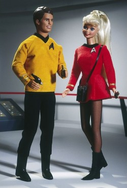 BARBIE a KEN 30th Anniversary Star Trek (30. výročí Star Trek) - poškozený obal